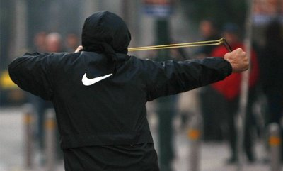 Troubled youth misunderstands point of last week's Nike protest