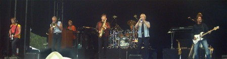 A panoramic shot featuring 1/4 of Chicago's touring band