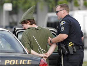 Peter Pan: arrested for transporting minors across dimensional lines; failure to fulfill EOE requirements (Hook v. Pan)