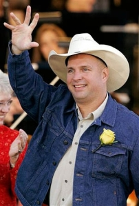 "To raise awareness for ""totally screwed"" multi-platinum artists like himself, Garth Brooks will eat all major label music for one day."